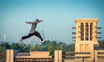Filmmaker Captures Dubai's Latest Parkour Craze From Above
