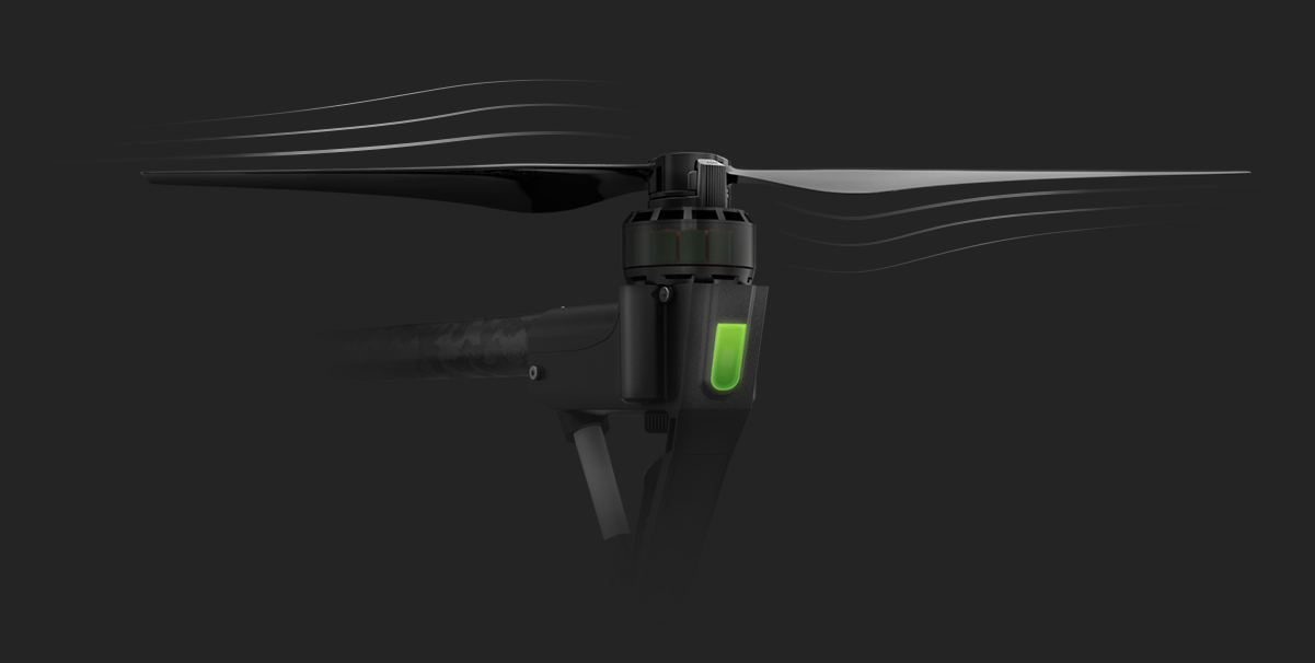 DJI Inspire 1 Pro powerful propulsion system