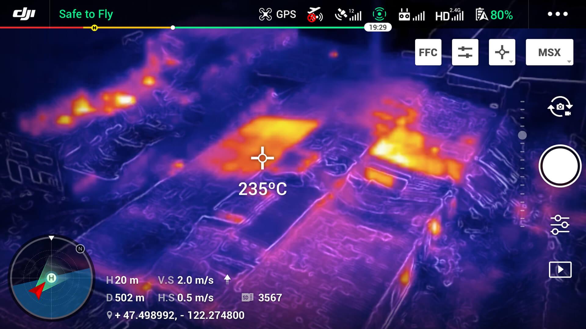 Un esempio di visione del drone Mavic 2. Credits: dji.com