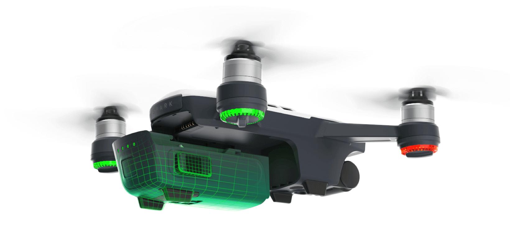 Dji Spark Selfie Drone Sky Blue Uncompromised Flight Time