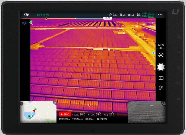 DJI FLIR Zenmuse XT2 Solar Panel Inspection Tablet View