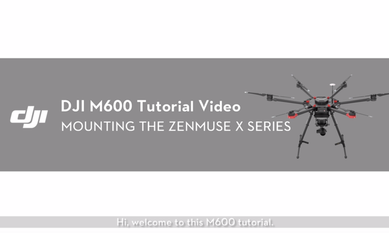 DJI M600 Video Tutorial——Mounting the Gimbal (Zenmuse X Series Gimbal)